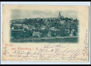N3639-082./ Gruß aus Schneeberg i. S. AK 1898