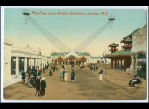 N4665/ London Großbritannien England Flip-Flap Latin-British Exhibition AK 1912