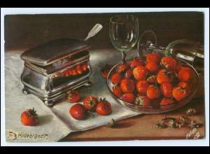"""Y1076/ Tuck`s """"Beeren und Kirschen"""" Stilleben AK 1909 Erdbeeren"""