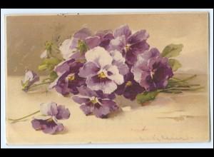 N4116/ C.Klein Blumen Veilchen Meissner & Buch Litho Ak 1910