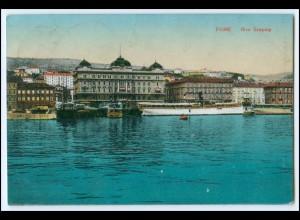 N3986/ Kroatien Fiume Riva Szapary 1925 AK