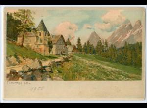 N4784/ Zeno Diemer Litho AK Fernpass 1905 Verlag: Ottmar Zieher