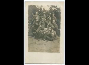 N4775/ Studenten trinken Privat Foto Ak ca. 1912 Studentika