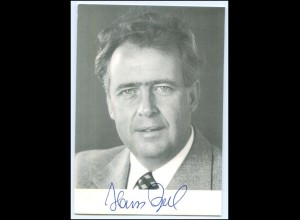 Y1939/ Hans Apel Autogramm Politik