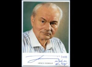 N4754/ Schriftsteller Heinz G. Konsalik Original Autogramm
