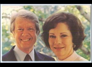 Y1603/ US Präsident Jimmy Carter und First Lady Rosalynn AK 1978 USA