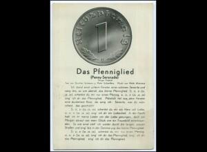 Y1594/ Das Pfenniglied Penny-Serenade Münze AK ca.1935