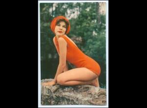 Y1571/ Hübsche junge Frau im Badeanzug Badeleben Krüger AK ca.1965 Pin Up