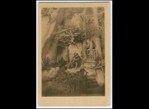 Y1579/ Spielmann bei einem Einsiedler, Dt. Kolonial-Krieger Spende AK 1921