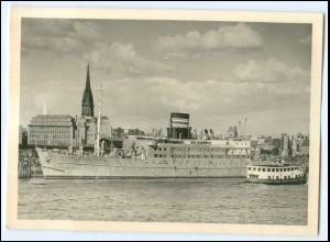 DP166/ Hamburg Hotelschiff Daressalam Hafen Foto AK ca.1950