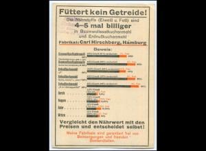 Y1809/ Oelkuchenmühlen C. Hirschberg, Hamburg Reklame AK ca. ca.1925