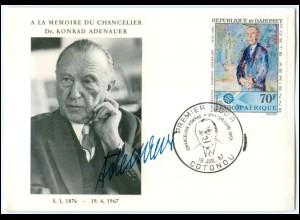 Y1811/ Konrad Adenauer 1876 - 1967 A la Memoire du Chancelier