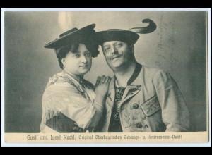 N5592/ Gustl und Liesl Rechl. Oberbayrisches Gesangs u. Instrum. Duo AK ca.1910