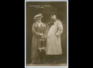 N5597/ von Hindenburg mit Gemahlin Foto AK ca.1914