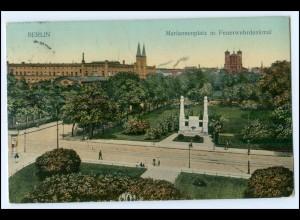 N5794/ Berlin Mariannenplatz mit Feuerwehrdenkmal 1911 AK