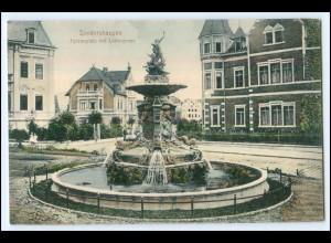 N5509-997./ Sondershausen Fürstenplatz Lohbrunnen AK ca.1910