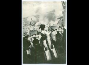 DP133/ Deutsche Bundeswehr AK Artillerie-Schießen vom Zerstörer Marine ca.1970