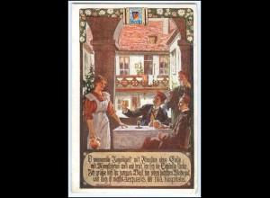 Y1946/ Studenten Bund der Deutschen in Niederösterreich AK Karte Nr.39 1913