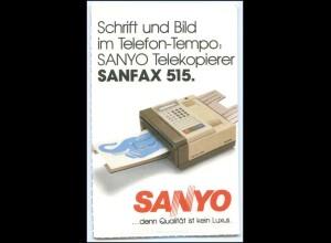 Y2139/ SANYO Fotokopierer Sanfax 515 Reklame Postkarte AK ca.1988