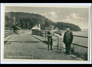 N6835/ Deutsch-Dänische Grenze bei Flensburg 1936 AK