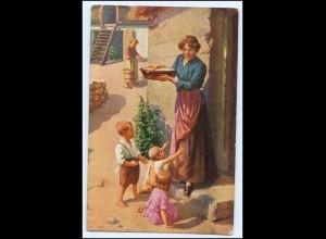 Y2289/ Mutter und Kinder Künstler AK T. Kroj AK 1917