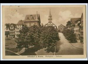N7160-3437/ Allendorf Marktplatz Rathaus 1929 AK
