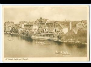 N7164-3500/ Alt-Kassel Fulda mit Altstadt Rudern Foto AK