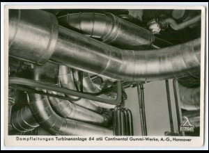 Y2257/ Hannover Reinhold & Co.Turbinenanlage Continental Gummi-Werke Foto AK