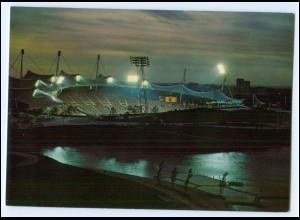 Y2247/ München Olympiade 1972 Stadion bei Nacht AK