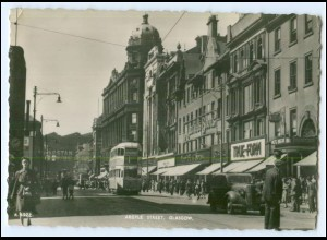 N7397/ Glasgow Argyle Street Tram Straßenbahn Schottland ca.1955