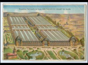 N7872/ Paris Exposition Universelle 1878 Weltausstellung Kaufmannsbild Litho