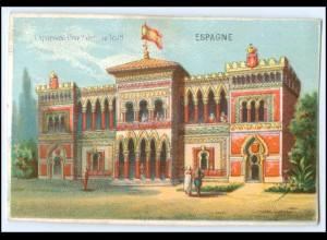 N7871/ Paris Exposition Universelle 1878 Weltausstellung Kaufmannsbild Spanien