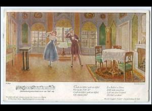 "N8658/ Franz Schubert ""Hannerl"" Dreimäderlhaus AK 1922"