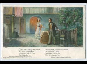 "N8659/ Franz Schubert ""Das Dreimäderlhaus"" AK 1917"