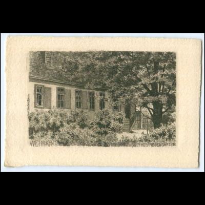 N8649-994./ Weimar Goethes Rosengarten Kupferdruck AK ca.1920