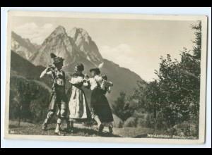 Y3032/ Werdenfelser Schuhplattler Foto AK 1938