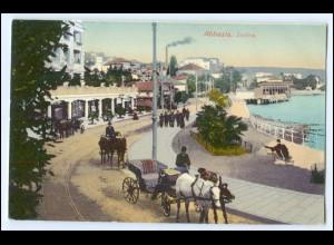 N7683/ Abbazia Satina Kroatien Kutschen AK 1910