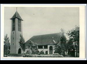 N9411-3253/ Hesssisch Oldendorf Kath. Kirche AK VW Käfer