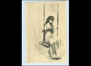 Y2468/ Hanna Nagel - Auf der Schaukel Mädchen AK ca.1920