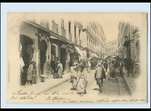 N7809/ Alger Rue Randon Algerien AK 1904