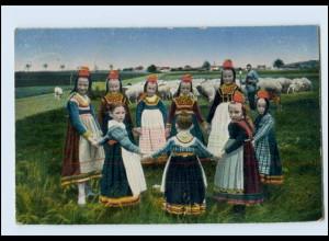 N7791/ Hessische Trachten Nr. 249 Ringelreihen, Kinder AK 1922