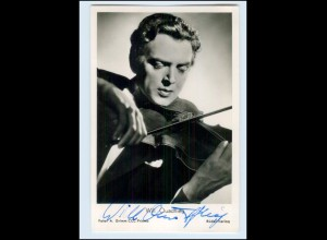 N7821/ Will Quadflieg mit Geige Autogramm alte Rüdel AK