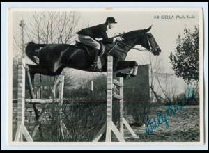 N7829/ Springreiter Wally Brack Autogramm auf Arigella Pferdesport