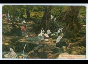 N9105/ Panama Washing day at Taboga AK 1911