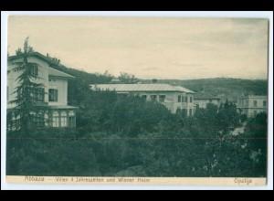 N7916/ Abbazia Villen 4 Jahrfeszeiten und Wiener Heim Kroatien AK 1906