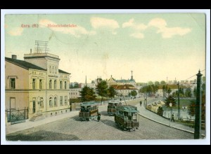 N7937-075./ Gera Heinrichsbrücke Straßenbahn AK 1911
