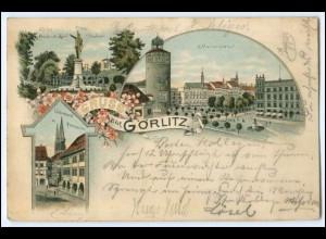 N7941/ Gruß aus Görlitz schöne Litho Ak 1897
