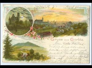 N7945/ Gruß aus Görlitz schöne Litho AK 1898