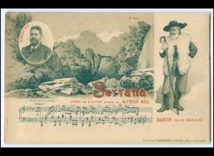 N8085/ Serrana Oper von Alfredo Keil Litho AK - Nabor (G. de Garzia) Italien