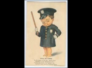 Y2610/ Kind als Polizist Polizei Verlag: Henry Heininger AK ca.1910